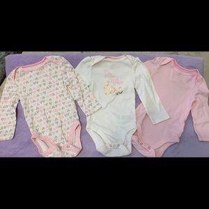 Baby girl 3pk long Sleeve Bodysuit - Cloud Island